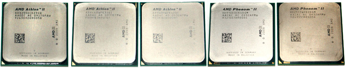 Процессоры AMD Athlon II и Phenom II